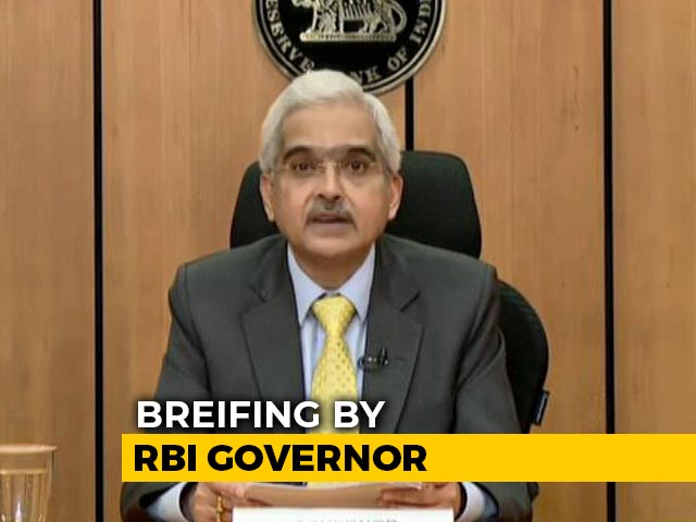 Video : Real GDP Likely To Remain In Negative Zone In First Half Of 2020-21, Says RBI