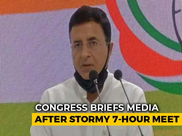 Video : Can't Discuss Issues In Public, Stand Behind Gandhis: Congress After Meet