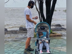 "Pic: Arjun Rampal's ""Incognito Monsoon Walk"" With Son Arik And Daughter Mahikaa"