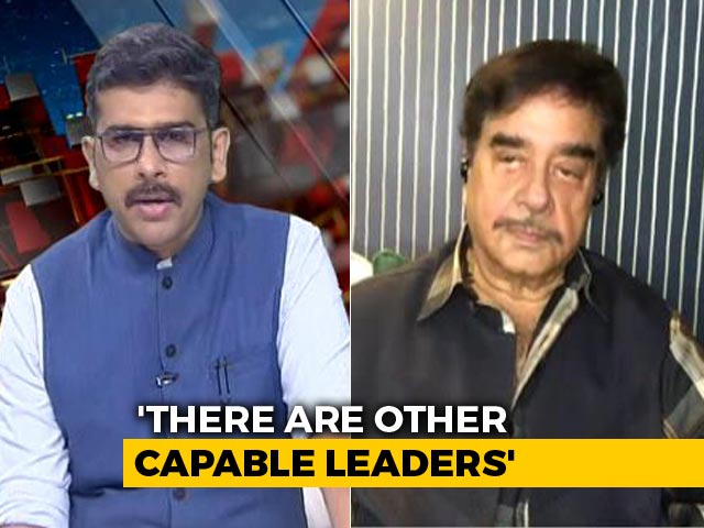 """Video : """"Rahul Gandhi Is A Tried, Tested, And Successful Leader"""": Shatrughan Sinha"""