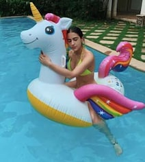 Nothing Messes With Sara Ali Khan's Pool Time, Not Even The Rain