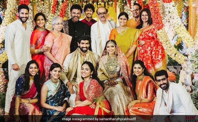 A Perfect Family Pic From Miheeka Bajaj And Rana Daggubati's Wedding. Courtesy Samantha Ruth Prabhu