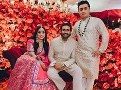 Viral Pic Of Abhishek Bachchan At JP Dutta's Daughter Nidhi's Engagement