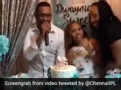 """Dwayne Bravo And Friends Groove To """"Champion"""" Song At Daughter's Birthday Party. Watch"""