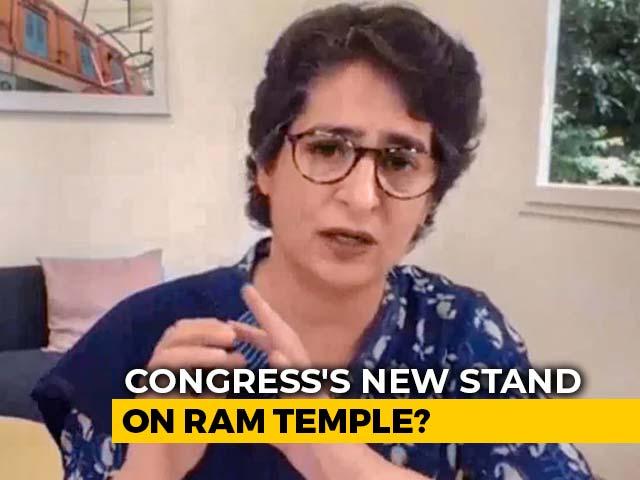 "Video : ""Lord Ram Is With Everyone"": Priyanka Gandhi Ahead Of Ayodhya Ceremony"