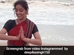 TV एक्ट्रेस दीपिका सिंह ने समुद्र किनारे आयुष्मान खुराना के गाने पर किया ओड़िया डांस...देखें VIDEO