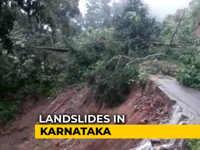 Video : 5 Missing In Landslide After Heavy Rain In Karnataka, Roads Blocked
