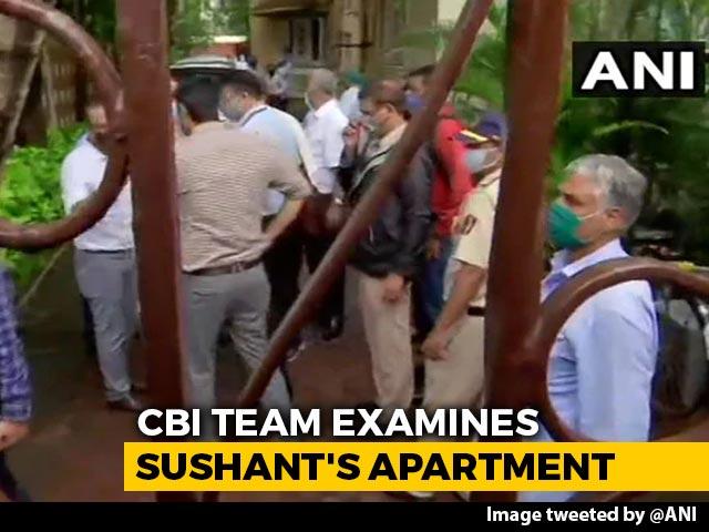Video : CBI Team At Sushant Singh Rajput's Home In Mumbai For Investigations