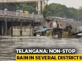 Video : Incessant Rain In Telangana Creates Flood-Like Situation, Relief Work On