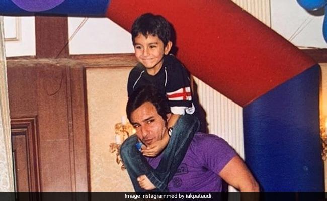 सैफ अली खान के बेटे इब्राहीम ने पिता के बर्थडे पर शेयर की बचपन की फोटो, लिखा- हैप्पी बर्थडे डैड
