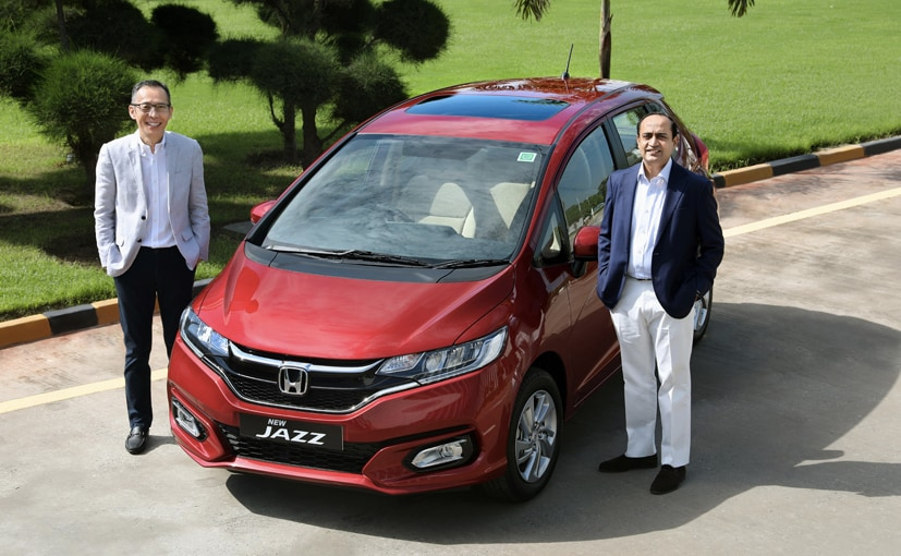 Gaku Nakanishi, President & CEO and Rajesh Goel, Sr. VP, Sales & Marketing with the new Jazz