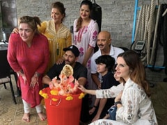 Ganpati Visarjan 2020: How Hrithik Roshan, Sussanne Khan And His Family Bid Farewell To Bappa