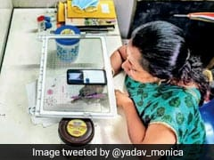 Teacher's <i>'Jugaad'</i> For Online Class Using Refrigerator Tray Wins Praise