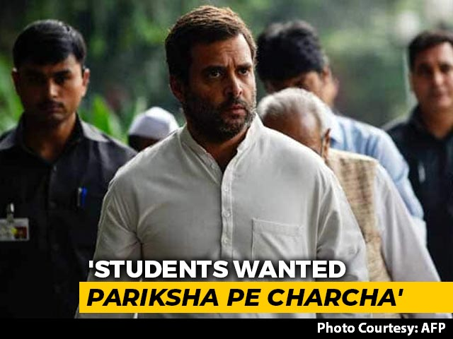 "Video : ""JEE-NEET Students Wanted Pariksha Pe Charcha"": Rahul Gandhi's Swipe At PM Modi"