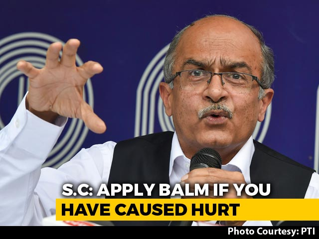 "Video : ""If You Hurt Someone, Why Not Apologise?"": Top Court To Prashant Bhushan"