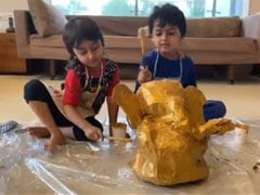 Ganesh Chaturthi 2020: In Which Riteish Deshmukh's Sons Riaan And Rahyl Make Eco-Friendly Ganesha From Scratch