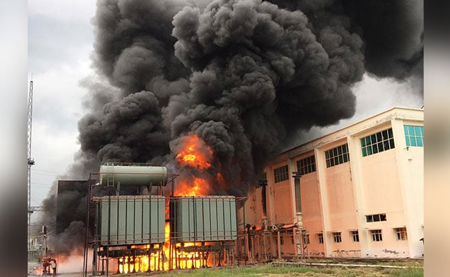 Huge Fire At Power Substation In Noida Causes Blackout In Sector
