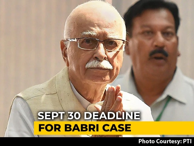 Video : September 30 Deadline For Babri Case In Which LK Advani Is An Accused