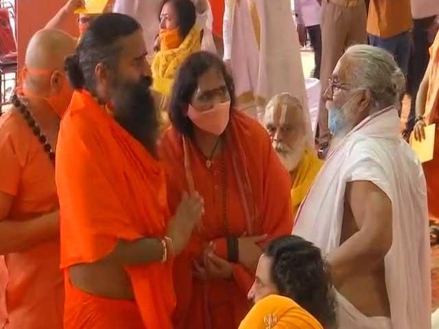 Video : Ramdev In Ayodhya Ahead Of Ram Temple Ceremony