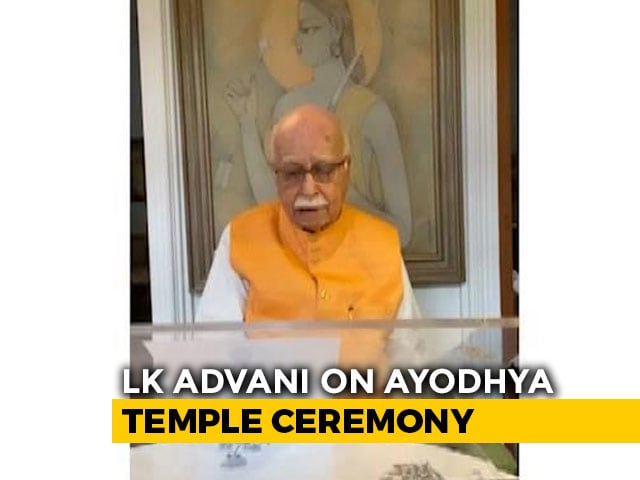 Video : Historic Moment, Wait Has Been Worthwhile: LK Advani On Ayodhya Ceremony