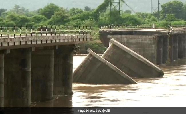 Portion Of Bridge Collapses In Nagpur's Ramtek Following Heavy Rainfall