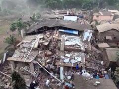 महाराष्ट्र : रायगढ़ में इमारत ढही, एक की मौत, मलबे में 25 लोगों के दबे होने की आशंका