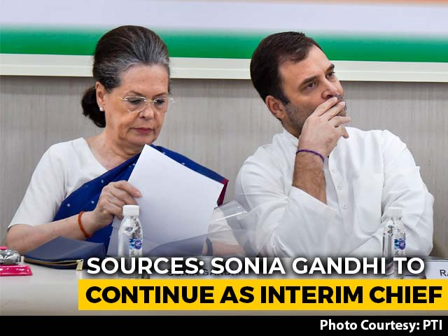 "Video : ""No Ill-Will Against Dissenters"": Sonia Gandhi To Remain Congress Chief"