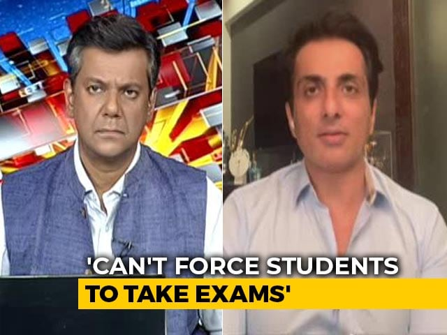 """Video : """"We Have To Support Students"""": Actor Sonu Sood Backs Demand To Postpone Exams"""