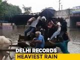Video : Delhi Sees Heaviest Rain This Season, Flooding In Many Areas, Big Jams