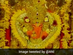 <i>''Aarti''</i> Performed At Mumbai's Siddhivinayak Temple On Ganesh Chaturthi