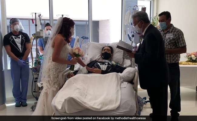 Video: Man Undergoing Covid Treatment Gets Married From Hospital Bed