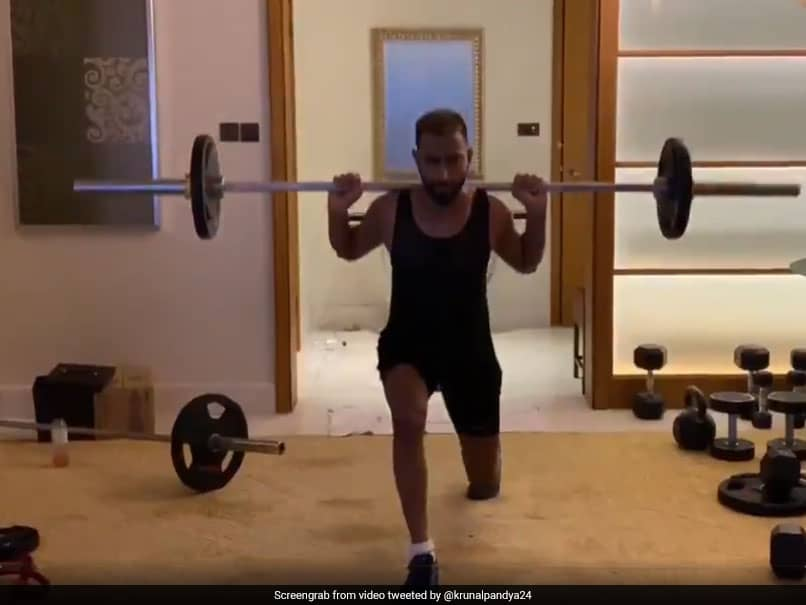 """No Rest Days!"": Krunal Pandya Does Quarantine Workout In Hotel Room"
