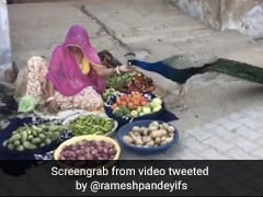 Viral Video Of Vegetable Seller Feeding A Peacock Wins Hearts
