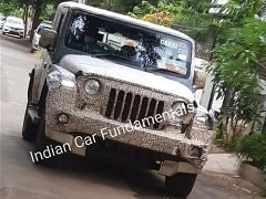 2020 Mahindra Thar Top-End Variant Spotted Testing In India Again