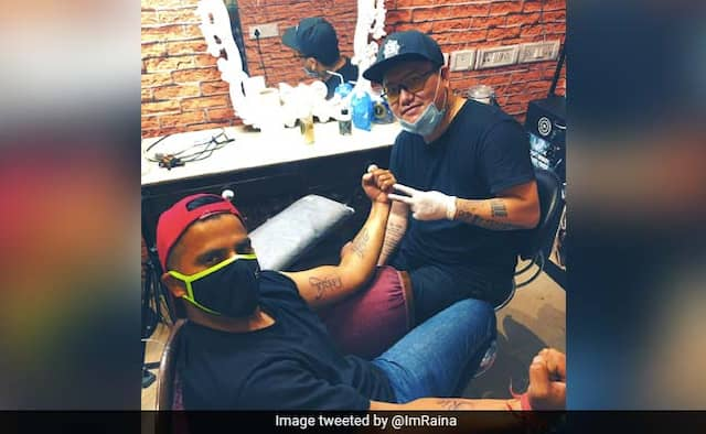IPL 2020 Suresh Raina Share Photo of tattoo of wife and kids fans troll him on social media