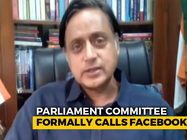 Video : Facebook Reps Asked To Meet Shashi Tharoor-Led MPs' Panel On September 2