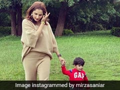 """You Are Part Of Me"": Sania Mirza Shares Cute Pics With Son Izhaan"