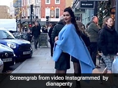 Diana Penty Flaunts A Bright Blue Poncho In A #Throwback Post