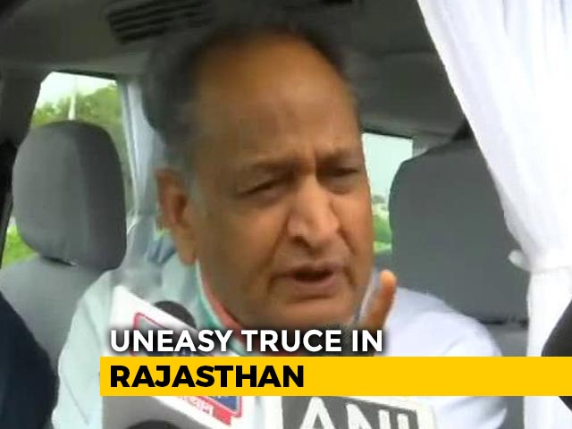 """Video : """"Forget And Forgive"""": Ashok Gehlot's Call To MLAs As Team Pilot Returns"""
