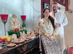 """Ganesh Chaturthi 2020 - Sanjay Dutt Posts Pic With Wife Maanayata: """"Celebrations Aren't Huge But Faith In Bappa Remains The Same"""""""