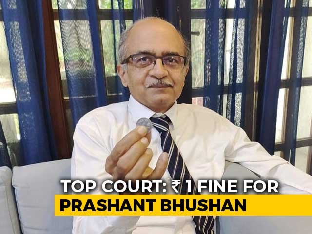 Video : Prashant Bhushan Fined Rs 1. Option: 3 Months In Jail With 3-Year Ban