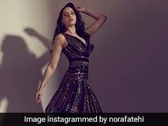 नोरा फतेही ब्लैक शिमरी ड्रेस में आईं नजर, Photos देख आप भी कहेंगे Wow