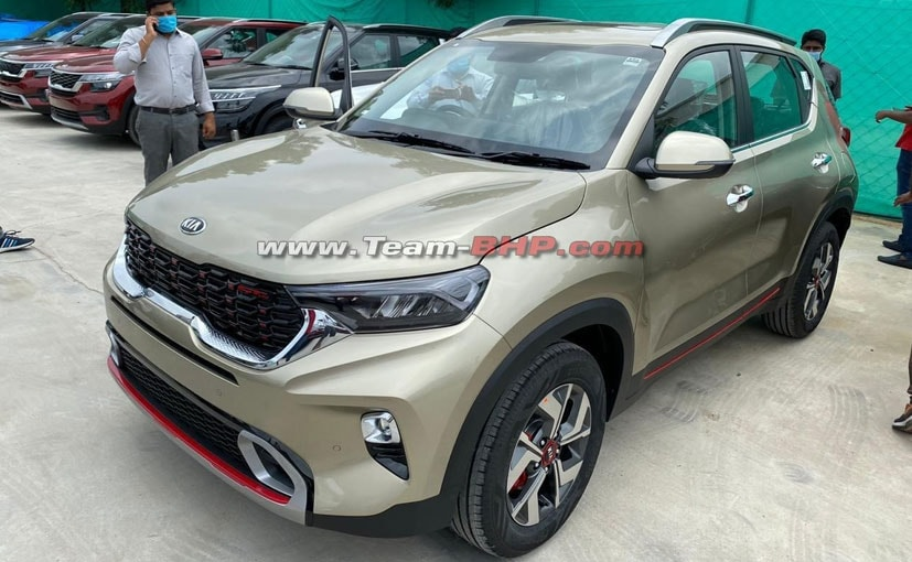 The model in these images is the top-spec GT-Line trim of the upcoming Kia Sonet