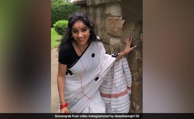 दीपिका सिंह की VIDEO हुई वायरल, साड़ी पहन इस अंदाज में दिखीं एक्ट्रेस