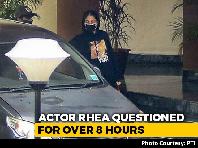 Video : Rhea Chakraborty Questioned For 8 Hours On Day 3, Called Again On Monday