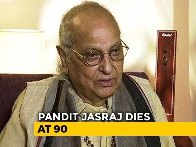 Video : Pandit Jasraj, Legendary Indian Classical Vocalist, Dies At 90