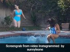 Sunny Leone ने पूल में लगाई छलांग, बेटी और दोस्त के साथ मस्ती करती दिखीं एक्ट्रेस- देखें Video