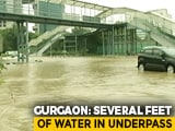 Video : Gurgaon's Underpasses Submerged After Heavy Rain