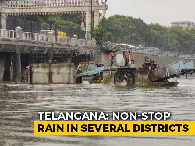 Video : Incessant Rain In Telangana Creates Flood-Like Situation, Relief Work On