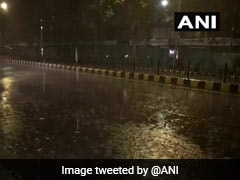 Heavy Rain In Delhi Brings Relief From Sultry Weather